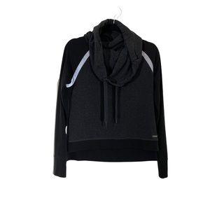 SWEATY BETTY Gray Funnelneck Pullover Sweatshirt